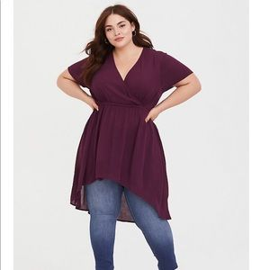 Purple Gauze Babydoll Tunic